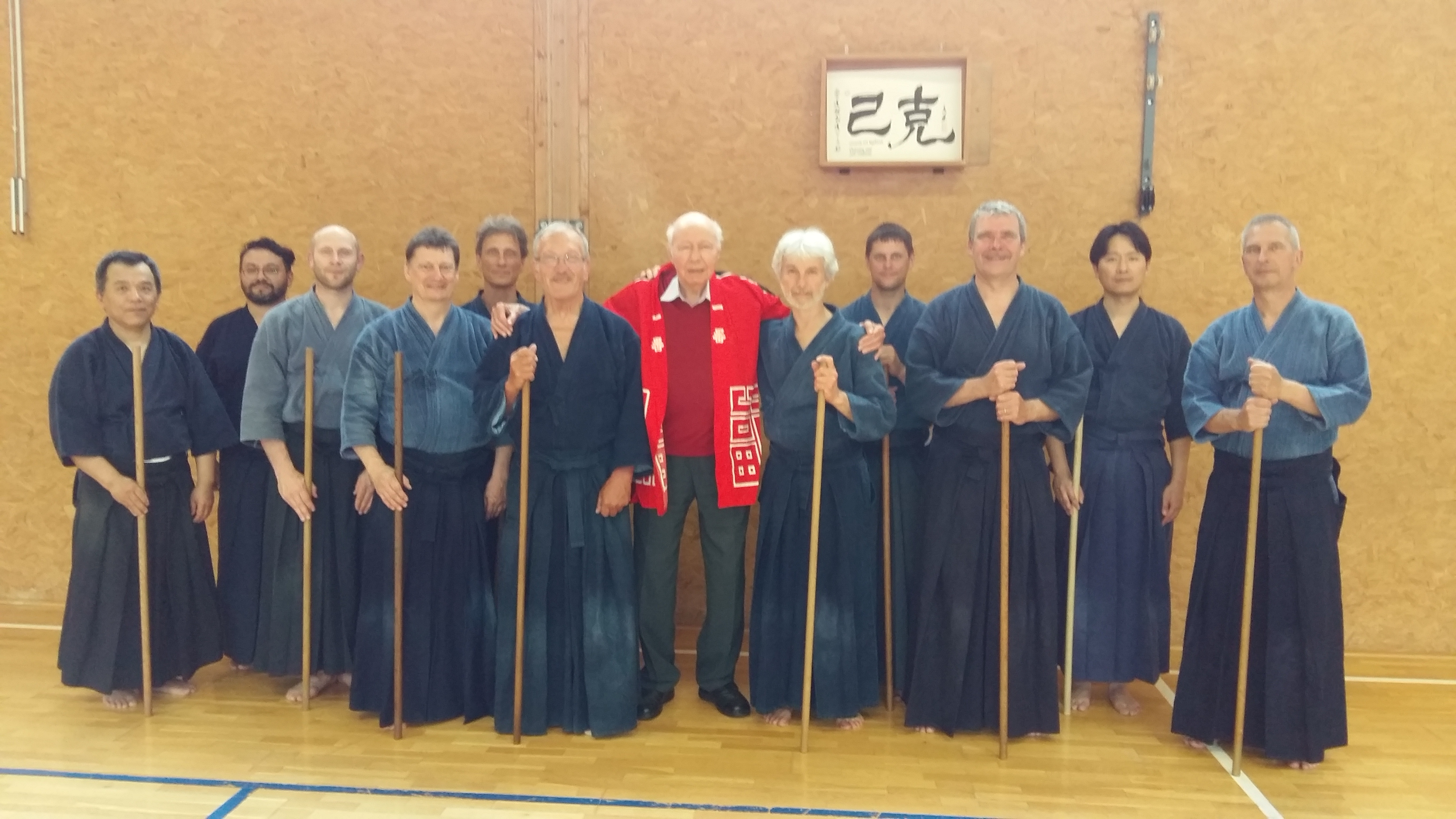 George visiting shinto muso ryu practice in Geneva